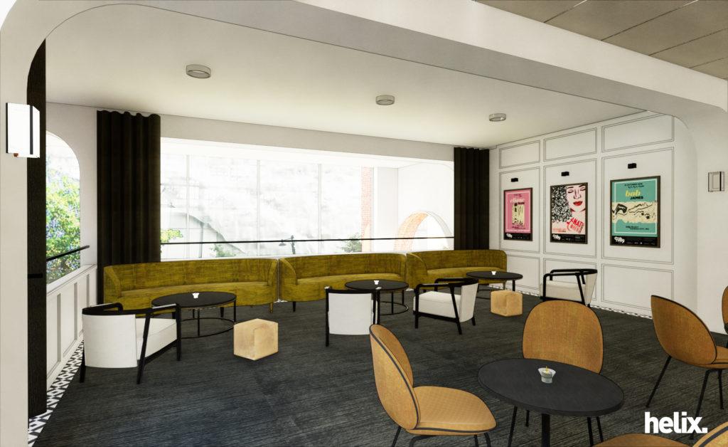 rendering of SH room for lobby renovation.