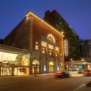 folly theater at dusk