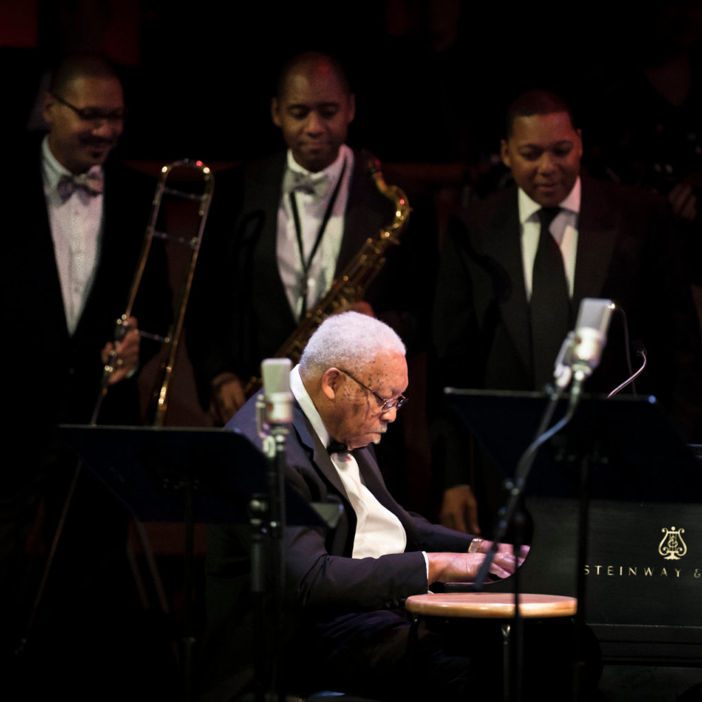 Ellis Marsalis Jr. with three of his sons, Delfeayo, left, Branford and Wynton, in 2011.